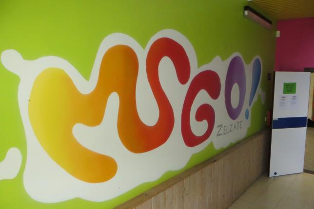 Een glimp van hoe de school er uitziet... kleurrijk, jong, fris,..